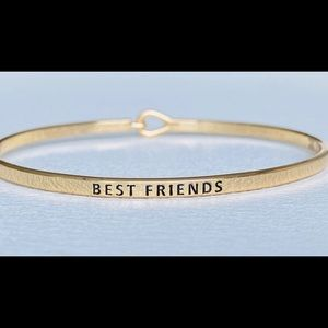 Best friend inspired bangle bracelet